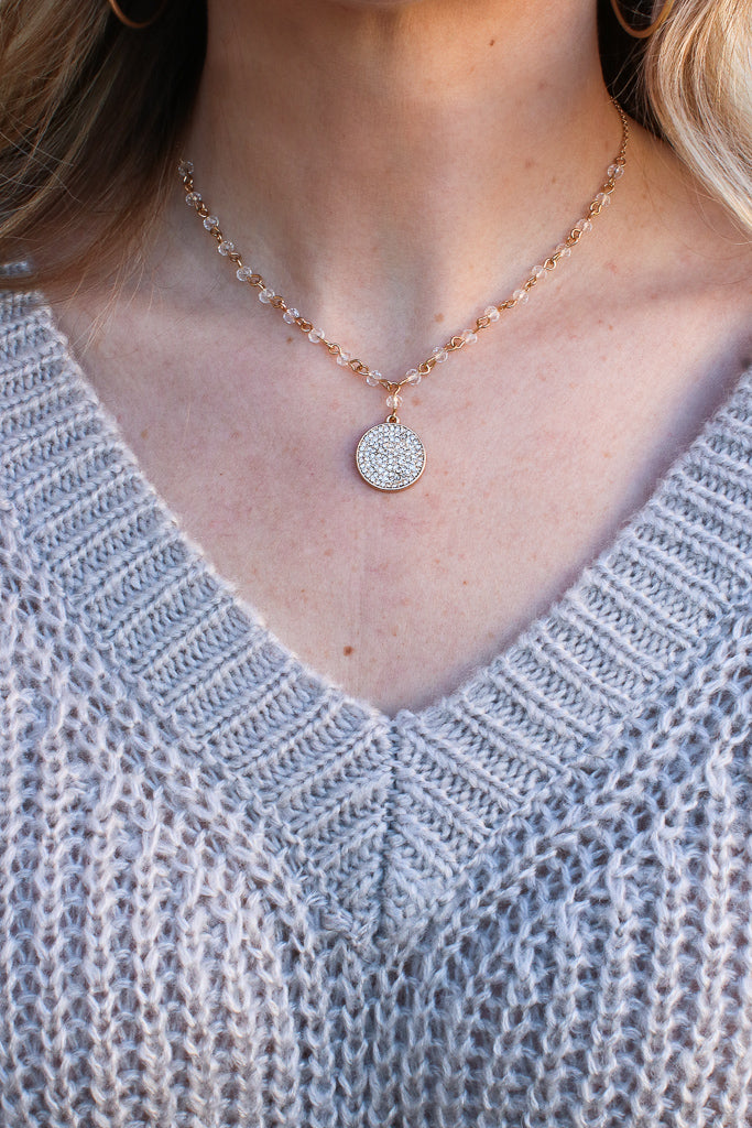 Gold All I Can Do Coin Necklace + MORE COLORS - FINAL SALE - Madison + Mallory