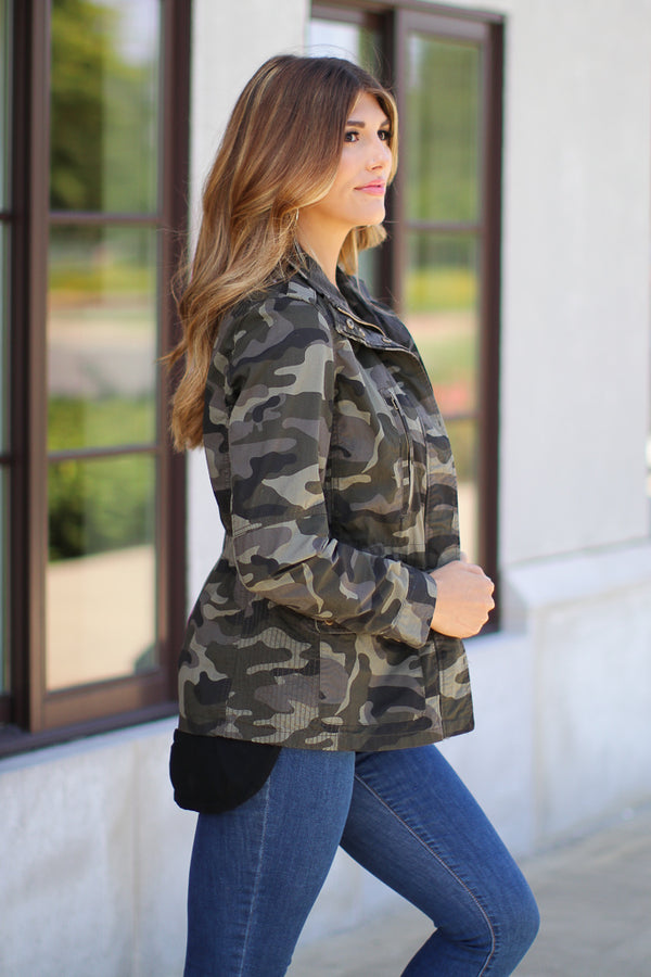 Hide Out Camo Jacket - Madison + Mallory