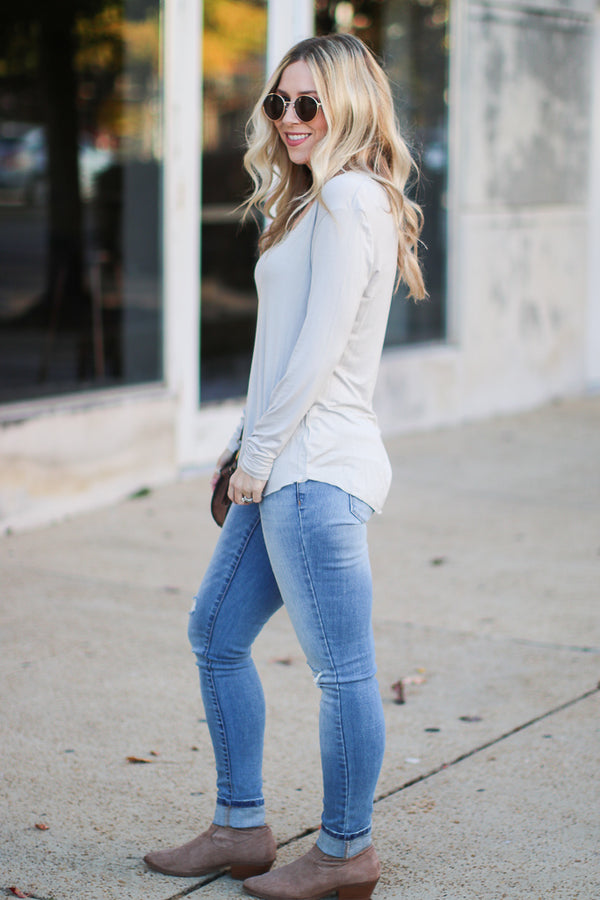 Dakota Long Sleeve Top + MORE COLORS - Madison + Mallory