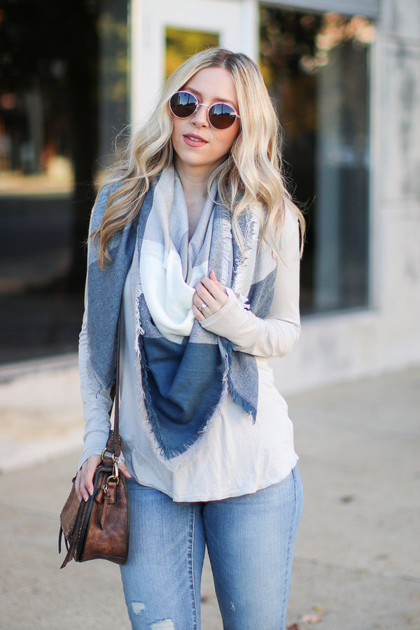 Teal Keeping It Cozy Plaid Scarf + MORE COLORS - FINAL SALE - Madison + Mallory