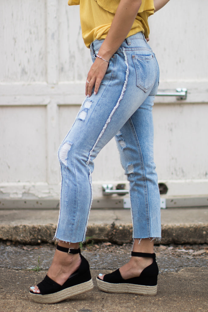 Logan Distressed Jeans - Madison + Mallory