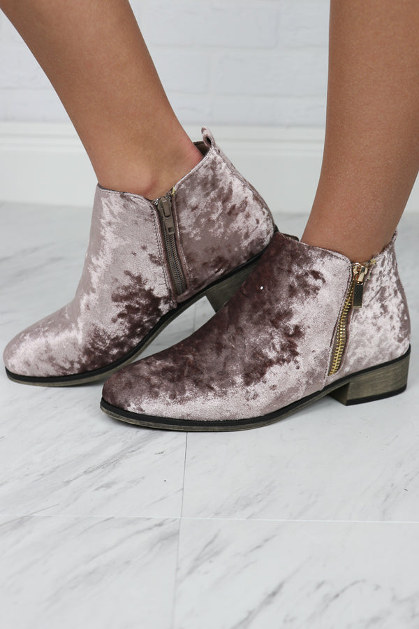 Velvet Booties - FINAL SALE - Madison + Mallory