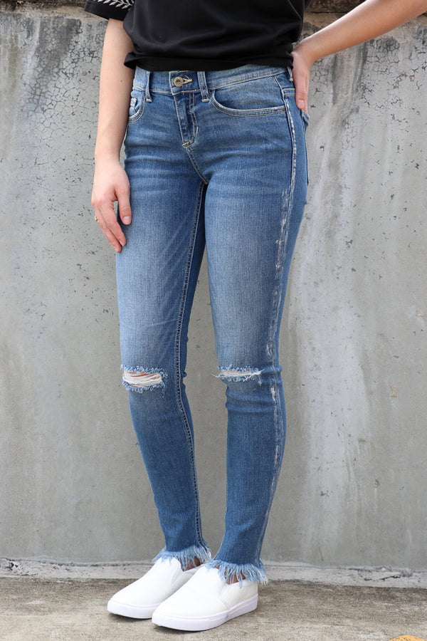 1 / Md. Light Saige Skinny Jeans - FINAL SALE - Madison + Mallory
