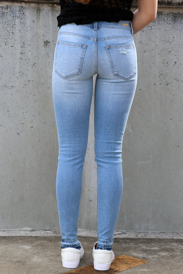Amanda Angle Hem Jeans - FINAL SALE - Madison + Mallory