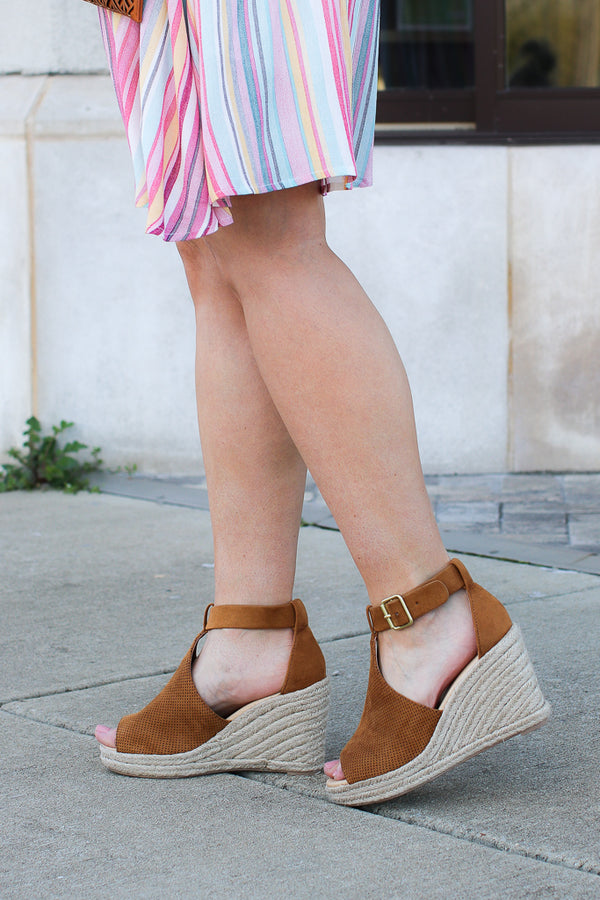 Off to Anywhere Espadrille Wedges - FINAL SALE - Madison + Mallory