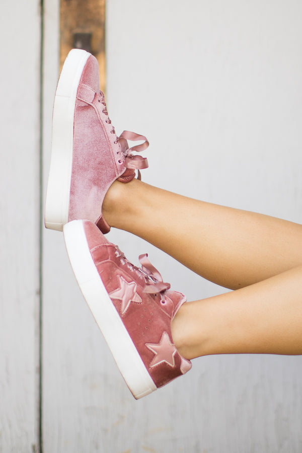 Velvet Star Sneakers - FINAL SALE - Madison + Mallory