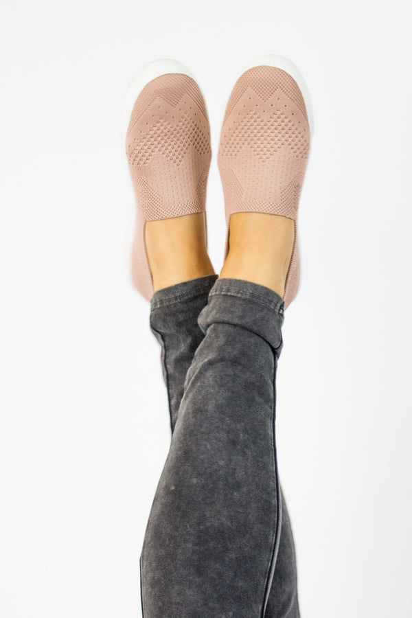 Stretch Knit Slip On Sneakers - FINAL SALE - Madison + Mallory