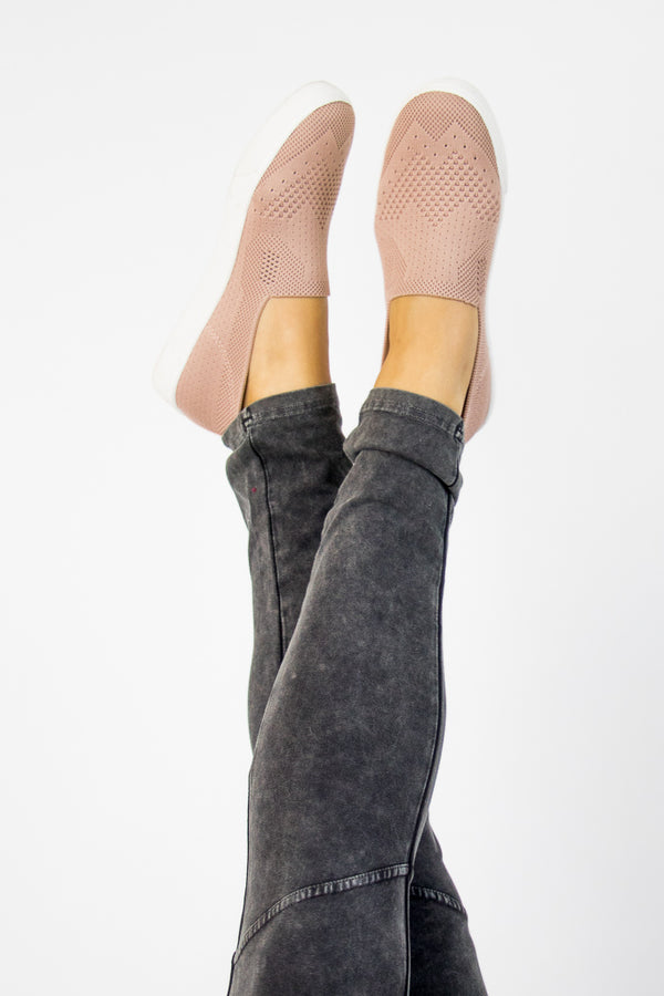 5.5 Stretch Knit Slip On Sneakers - FINAL SALE - Madison + Mallory