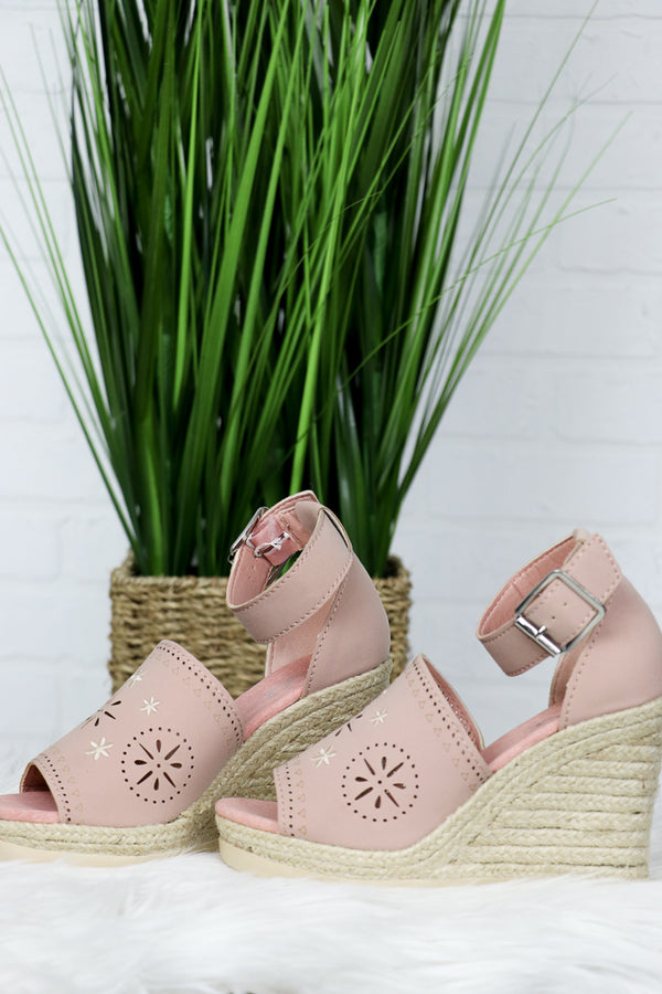 Eyelet Espadrille Wedges - FINAL SALE - Madison + Mallory