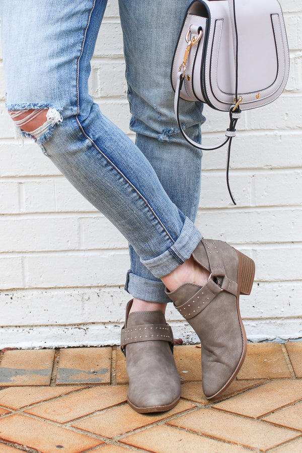 Never be the Same Buckle Booties - FINAL SALE - Madison + Mallory