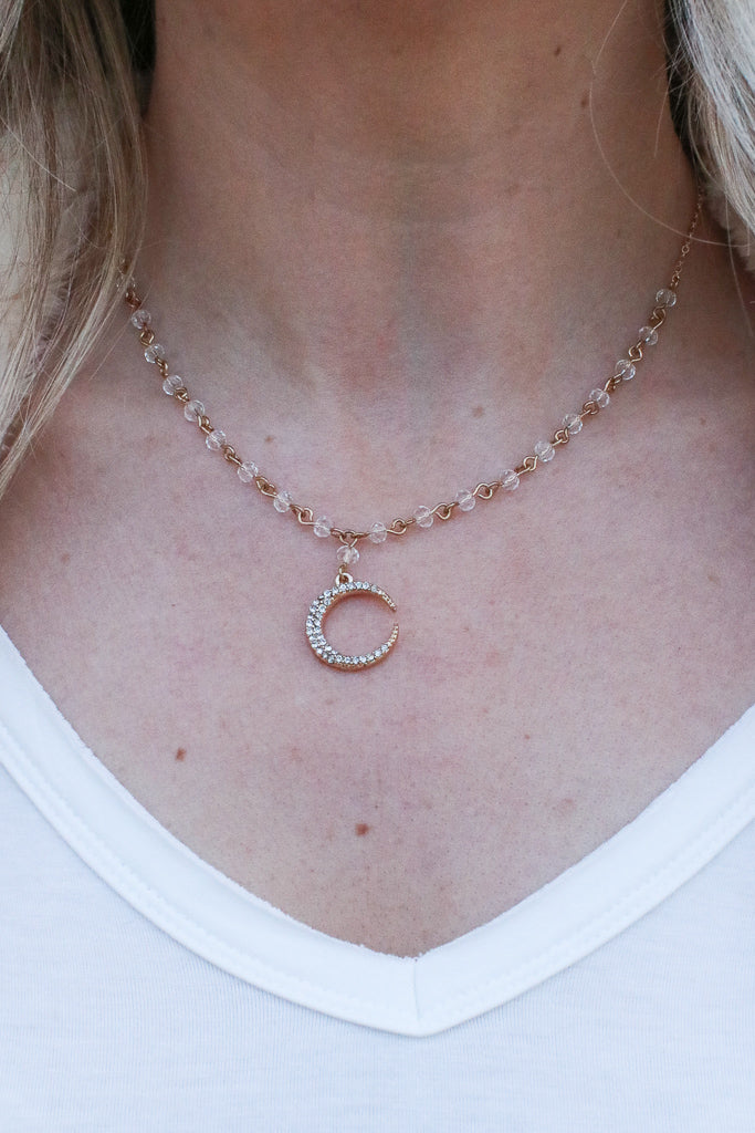 Daydreamer Crescent Necklace - Madison + Mallory
