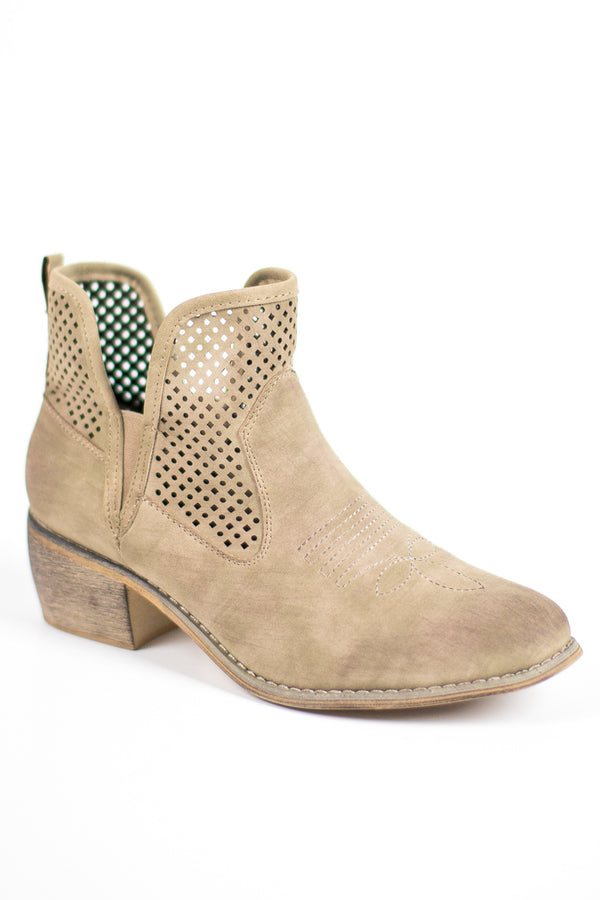 Candice Cut Out Booties - FINAL SALE - Madison + Mallory