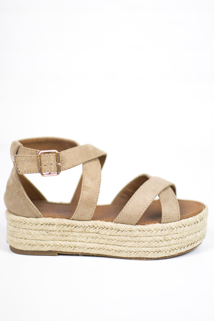 Natural / 5.5 Espadrille Flatforms - FINAL SALE - Madison + Mallory