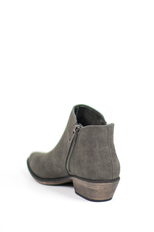 Side Zip Booties - FINAL SALE - Madison + Mallory
