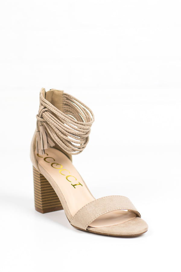 Tassel Ankle-Wrap Heels + MORE COLORS - Madison + Mallory