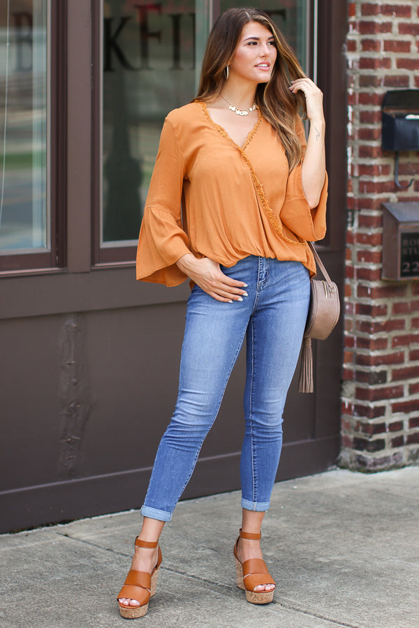 Worth the Wait Lace Surplice Top - Madison + Mallory