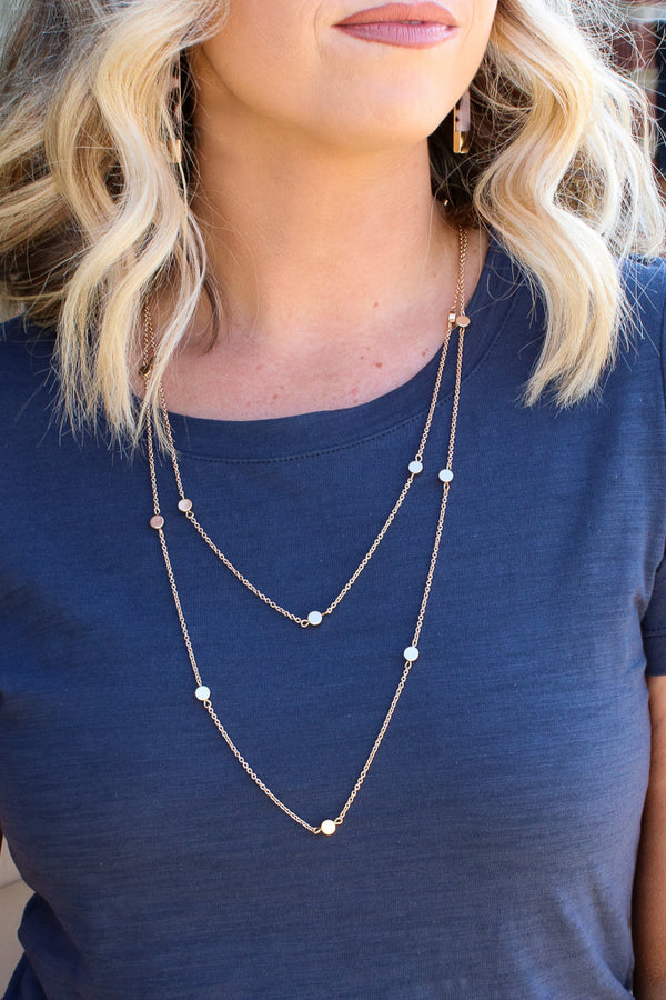 Gold Cupertino Layered Disc Necklace - FINAL SALE - Madison + Mallory