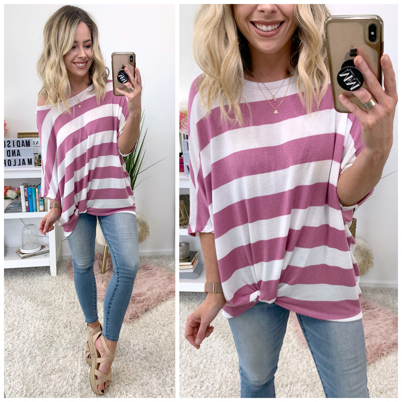 Now's Your Moment Striped Top - FINAL SALE - Madison + Mallory