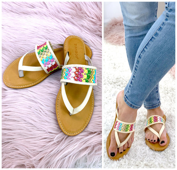 Shoreline Crochet Detail Sandals - Madison + Mallory