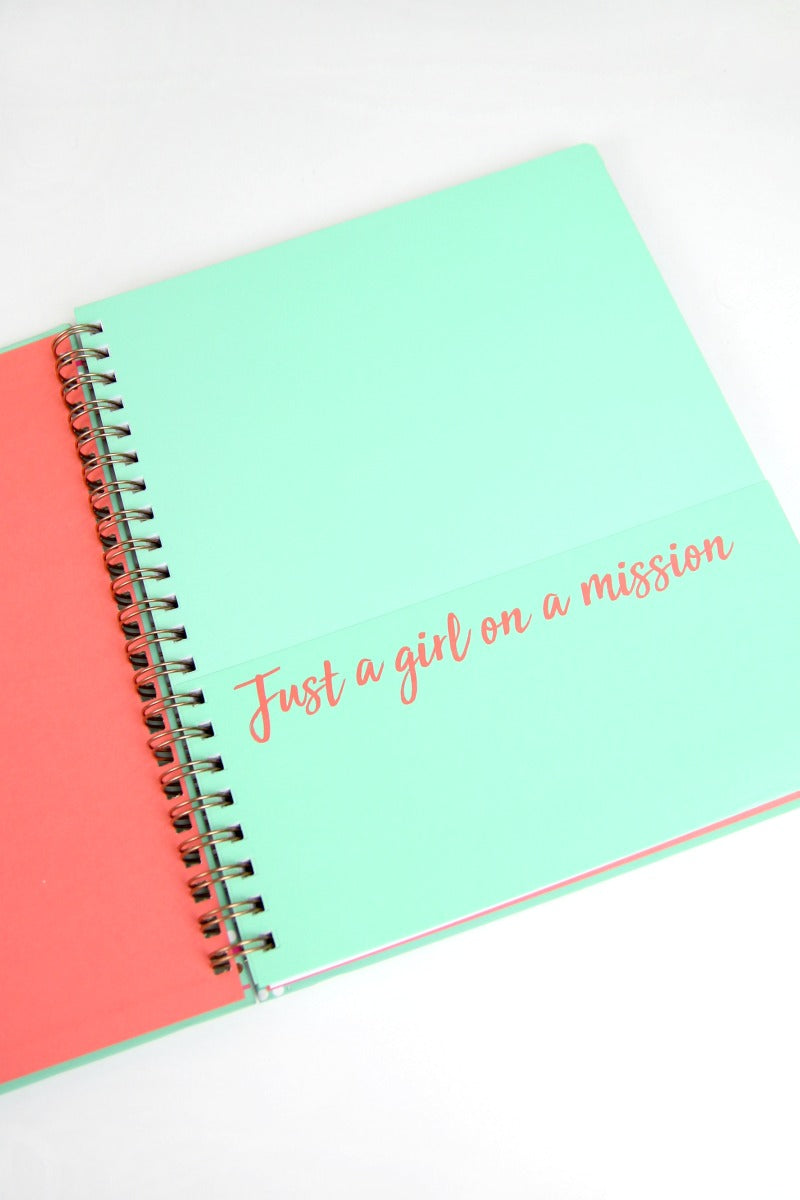 You Can Change the World, Girl Notebook - Madison + Mallory