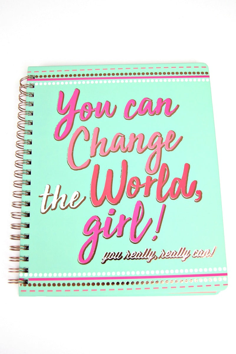Multi You Can Change the World, Girl Notebook - Madison + Mallory