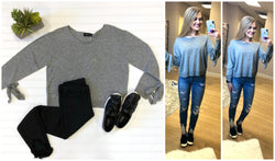 Tie Sleeve Sweater - Madison + Mallory