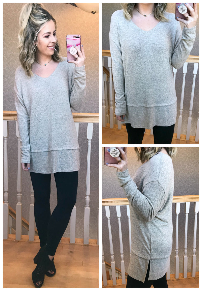Malia V-Neck Knit Top - Madison + Mallory