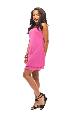 Rapz Layered Dress Pink 4370