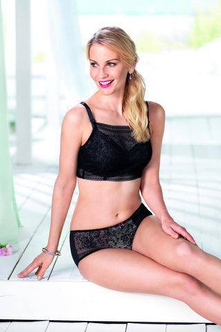 Anita Fleur Lace Clip-On Bandeau Top 0600 Black