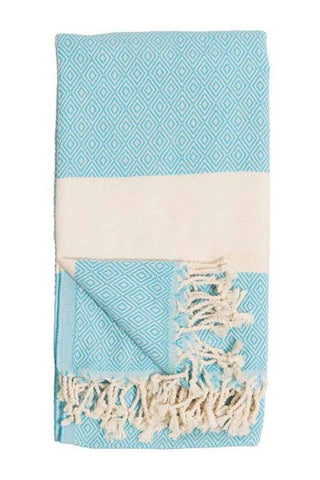 Pokoloko Diamond Turkish Towel TTD2 Aqua