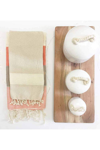 Pokoloko Diamond Turkish Towel TTD9 Cream