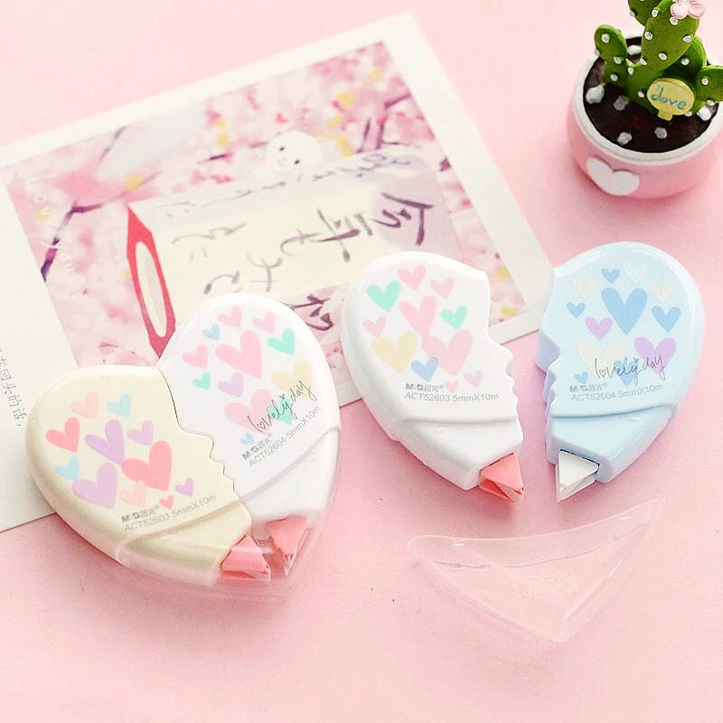 Heart Shaped Correction Tape