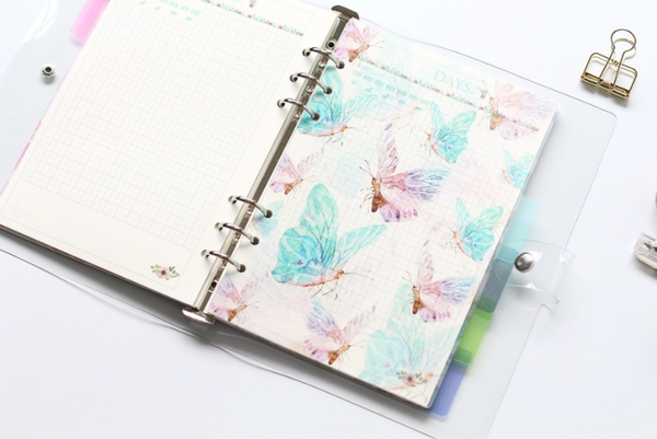 A5/A6 Watercolor Nature Planner Dividers 7