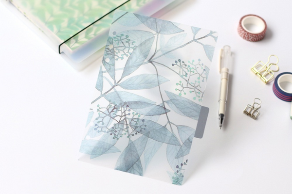 A5/A6 Watercolor Nature Planner Dividers 12