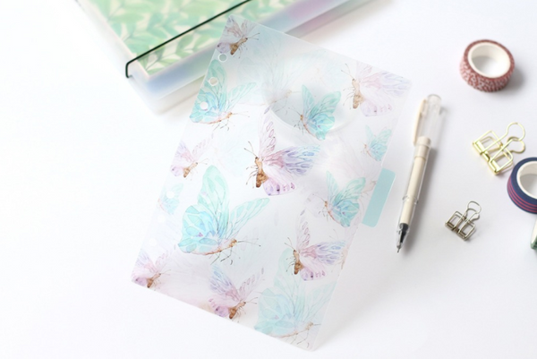 A5/A6 Watercolor Nature Planner Dividers 9