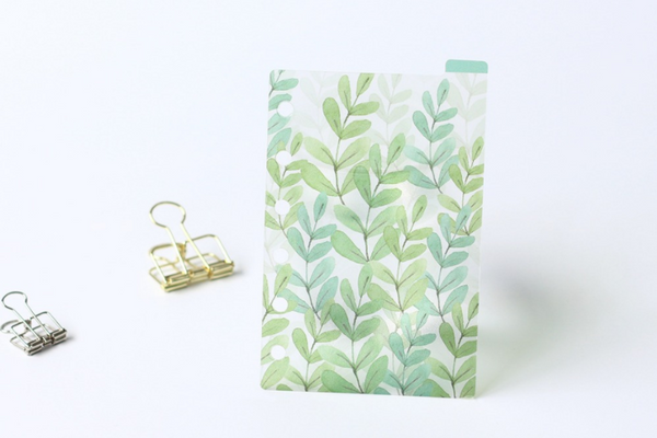 A5/A6 Watercolor Nature Planner Dividers 13