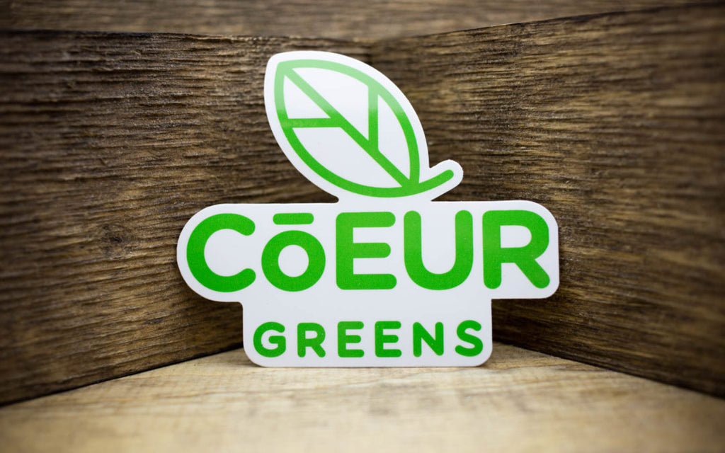Coeur Greens Glossy Stickers
