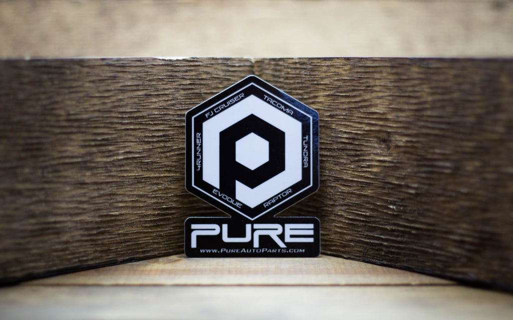 Pure FJ Auto Parts Stickers