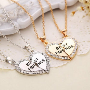 Best Friends Necklace - Silver & Gold