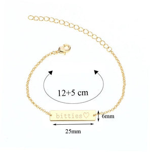 Bracelet Make A Name - Custom Bracelet - Size Guide