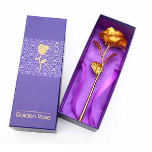 Golden 24k Gold Foil Rose: The timeless gift that never fades Exfitbell