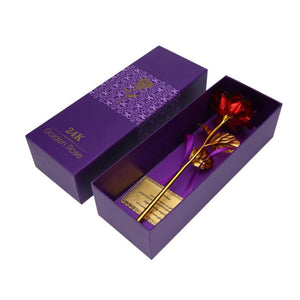 Red 24k Gold Foil Rose: The timeless gift that never fades Exfitbell