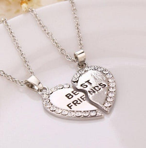 Silver Best Friends Necklace - Silver Version