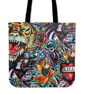 Shopeholic:Tattoo Art Tote Bag