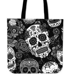 Shopeholic:Skull With Roses Tote Bag