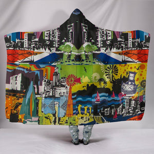 Shopeholic:Urban Mosaic Hooded Blanket