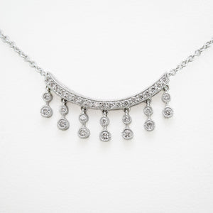 Drop Necklace in 18ct White Gold with Diamonds