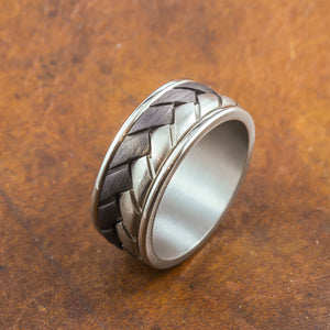 mens titanium and carbon ring perth