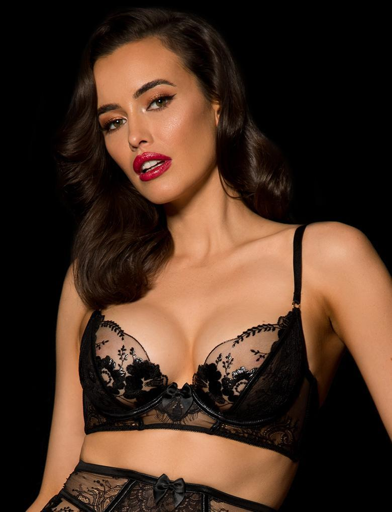 Issy Laquer Lace Underwire Bra - Shop Lingerie | Honey Birdette