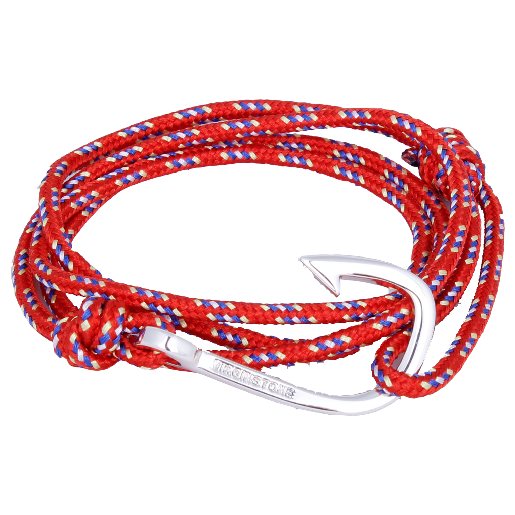 NYLON CHINESE RED Silver hook